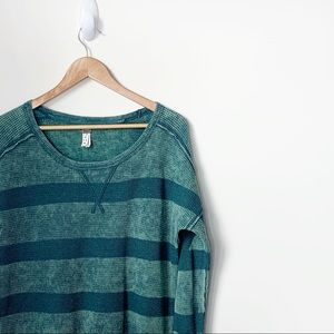Free People Acid Striped Thermal in Green XS